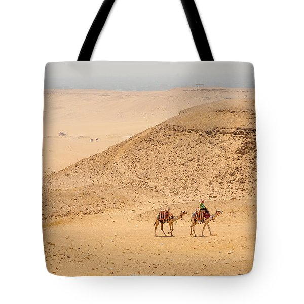 Camels In The Egyptian Desert Tote Bag