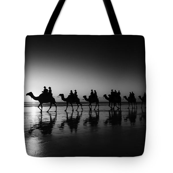 Camels On The Beach Tote Bag