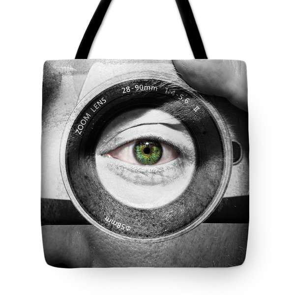 Camera Face Tote Bag