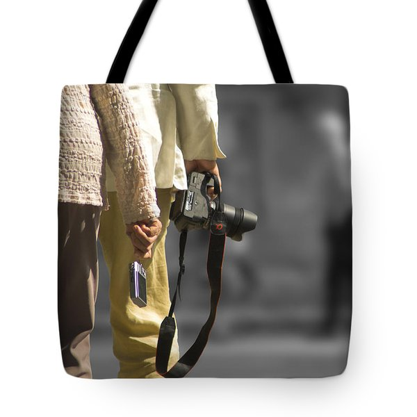 Cameras Unholstered Tote Bag by Hazy Apple