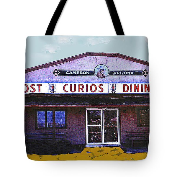 Tote Bag featuring the photograph Cameron Arizona Trading Post by Merton Allen