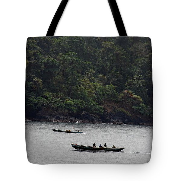 Cameroon Fisherman Africa Tote Bag
