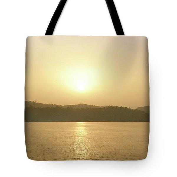 Cameroon Sunrise Africa Tote Bag
