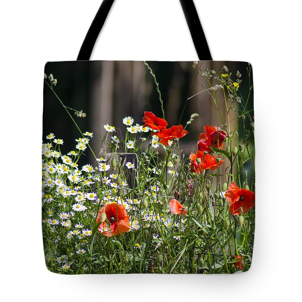 Camille And Poppies Tote Bag