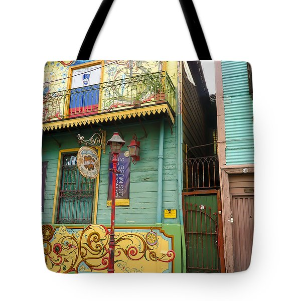 Tote Bag featuring the photograph Caminito La Boca by Silvia Bruno