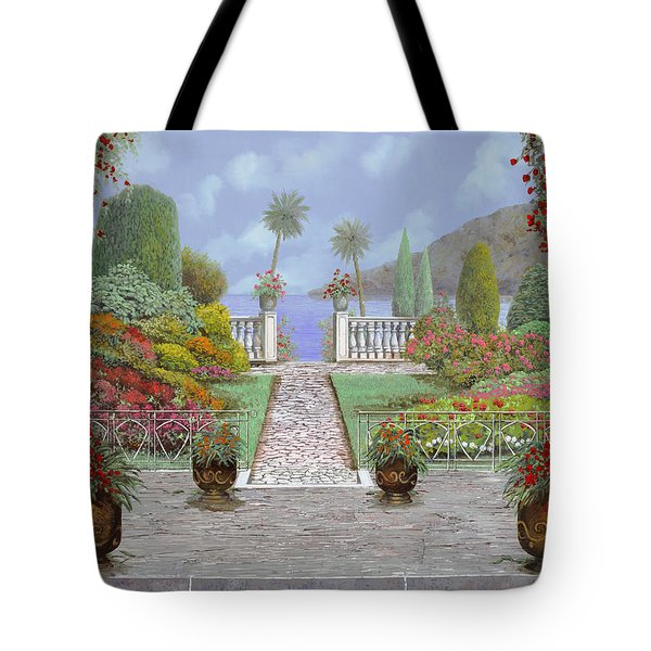 Camminando Verso Il Lago Tote Bag by Guido Borelli