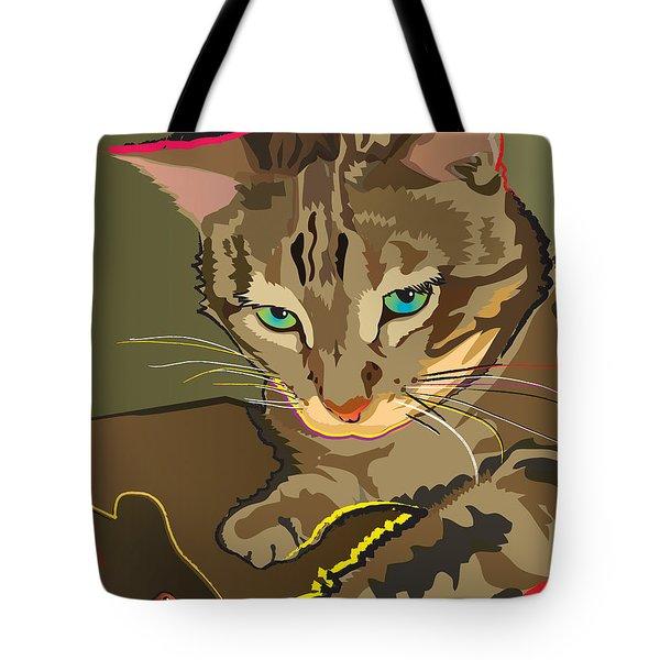 Camouflage Bengal Cat Tote Bag