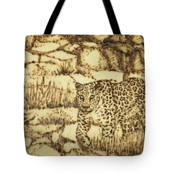 Tote Bag featuring the painting Camouflage by Elizabeth Mundaden