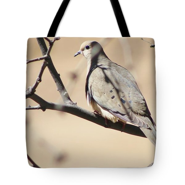 Camouflaged Mourning Dove Tote Bag