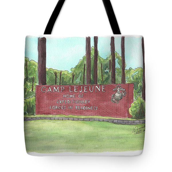 Camp Lejeune Welcome Tote Bag