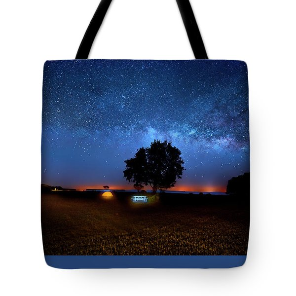 Tote Bag featuring the photograph Camp Milky Way by Mark Andrew Thomas