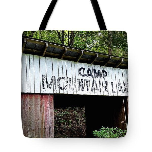 Camp Mountain Lake Horse Stables - Vintage America Tote Bag