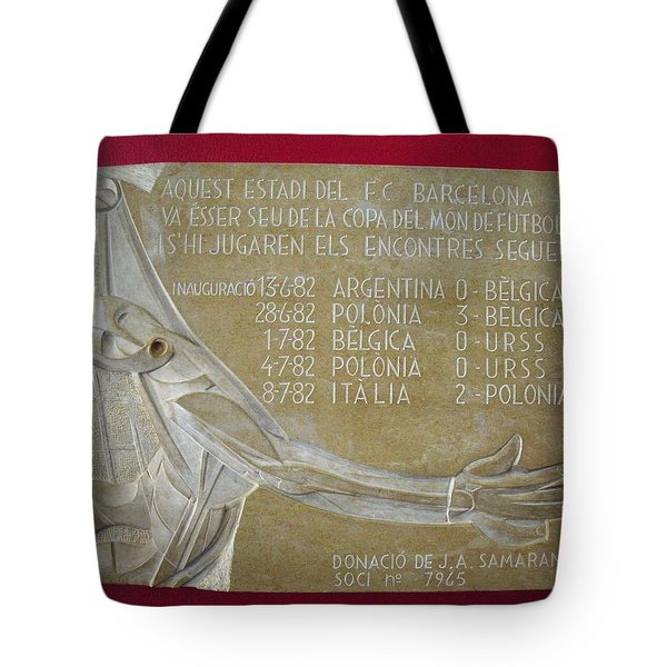 Tote Bag featuring the photograph Camp Nou 1982 by Juergen Weiss