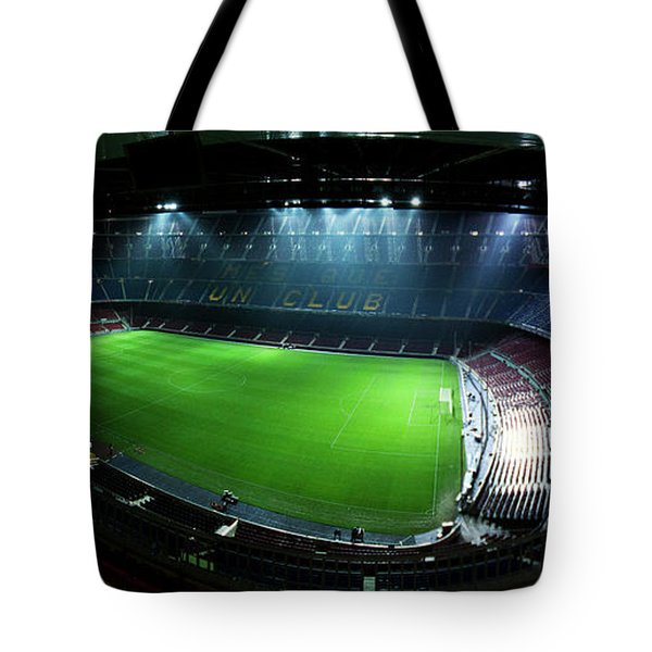 Camp Nou At Night Tote Bag