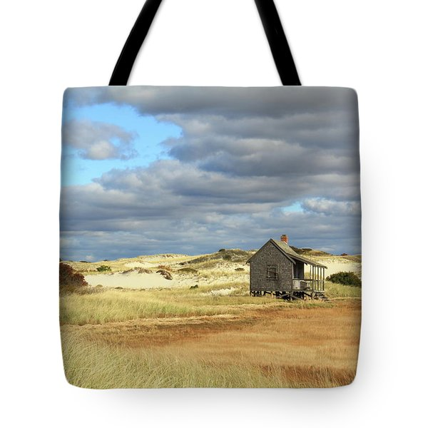 Tote Bag featuring the photograph Camp On The Marsh And Dunes by Roupen  Baker