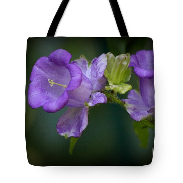 Tote Bag featuring the digital art Campanula by Irina Hays