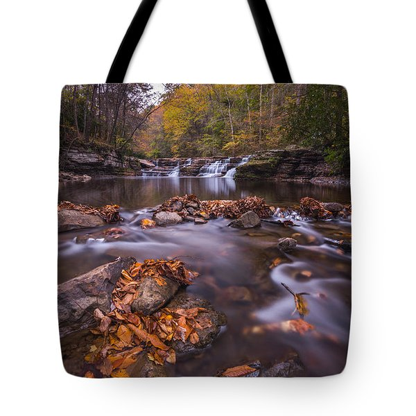 Campbell Falls Camp Creek State Park Tote Bag by Rick Dunnuck