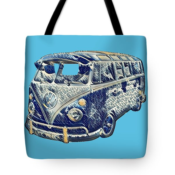 Camper Van Waves Tote Bag