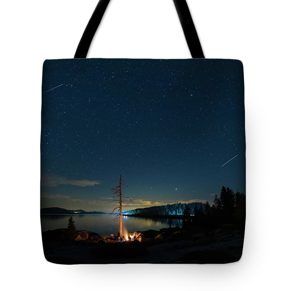 Tote Bag featuring the photograph Campfire 1 by Jim Thompson