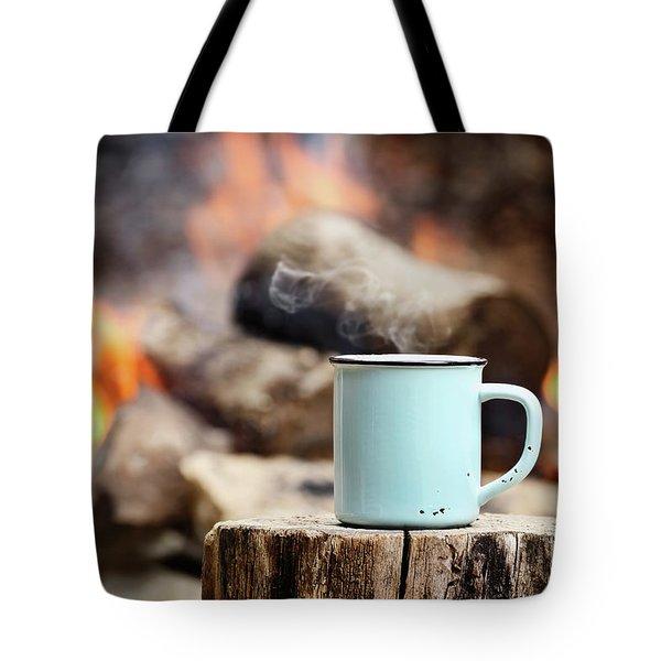 Campfire Coffee Tote Bag by Stephanie Frey