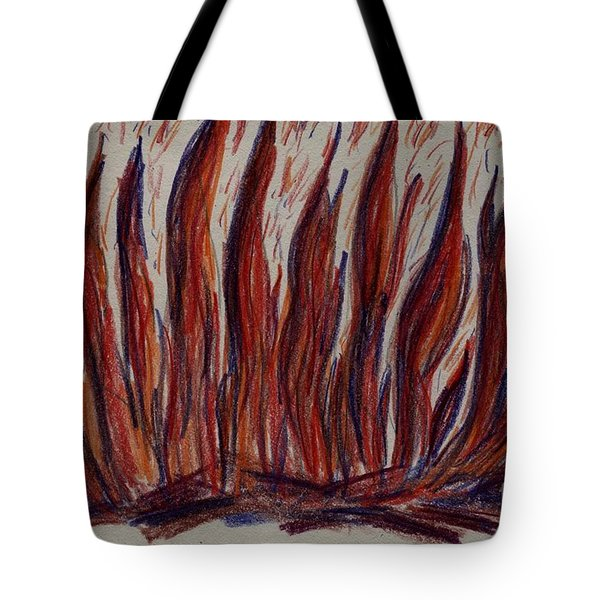 Campfire Flames Tote Bag by Theresa Willingham