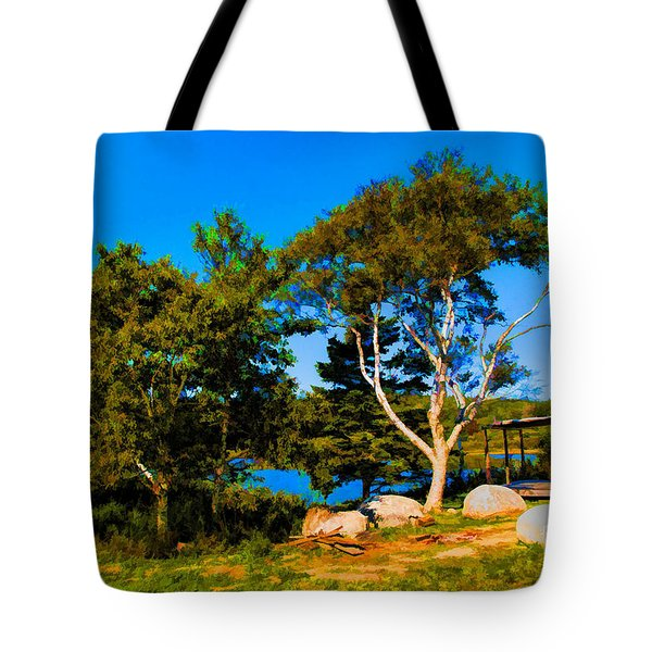 Campfire Lake Tote Bag