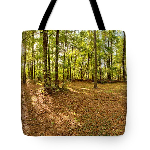 Campground Panoramic At Fdr State Park Tote Bag