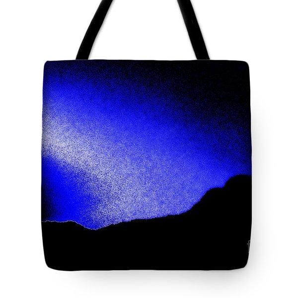 Camping Blues Tote Bag