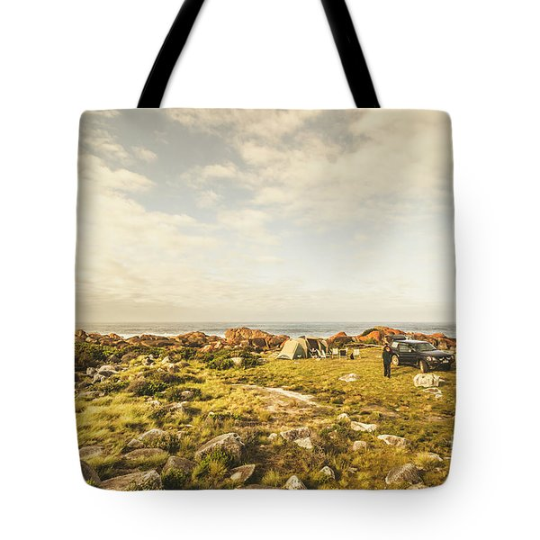 Camping, Driving, Trekking Tote Bag