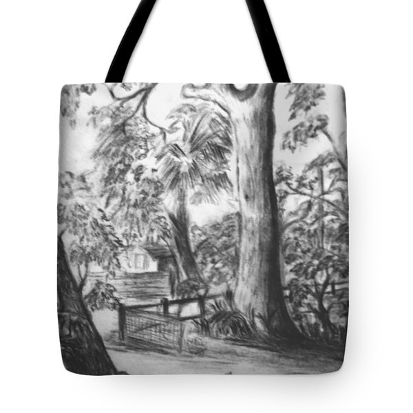 Tote Bag featuring the drawing Camping Fun by Leanne Seymour