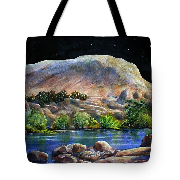 Camping In The Moonlight Tote Bag