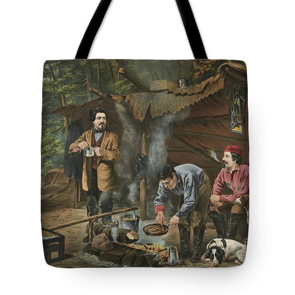 Camping In The Woods  A Good Time Coming Tote Bag