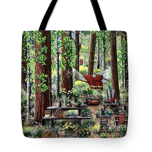 Camping Paradise Tote Bag