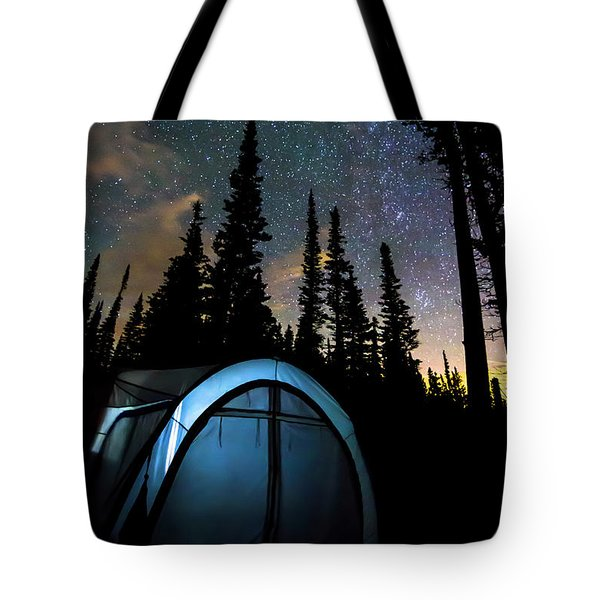 Tote Bag featuring the photograph Camping Star Light Star Bright by James BO Insogna