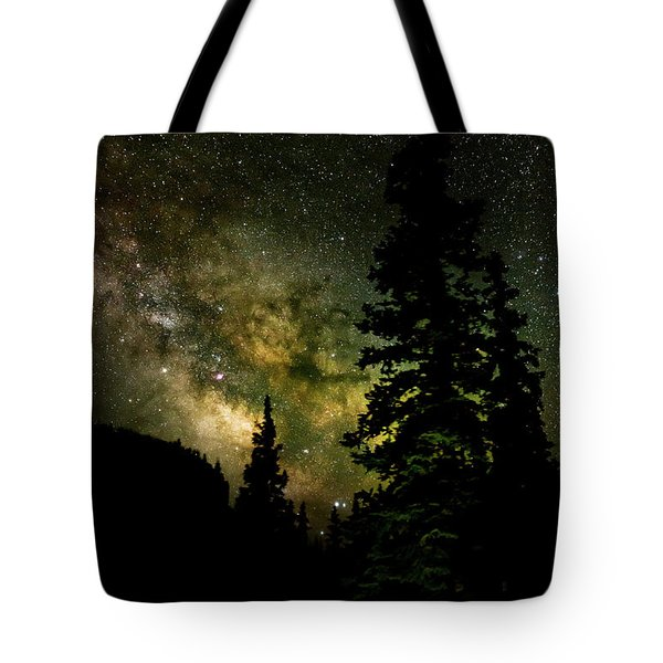 Camping Under The Milky Way Tote Bag