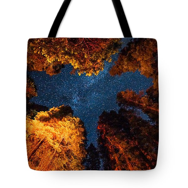 Camping Under The Stars  Tote Bag