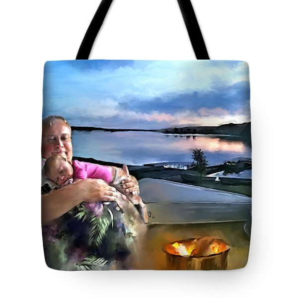 Camping With Grandpa Tote Bag