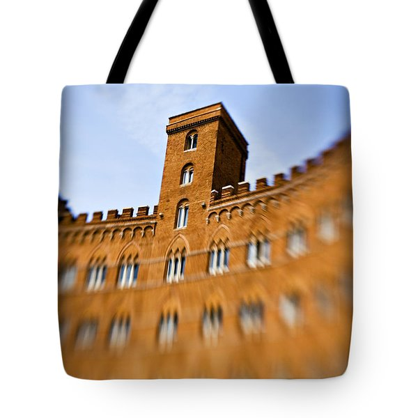 Campo Of Siena Tuscany Italy Tote Bag by Marilyn Hunt