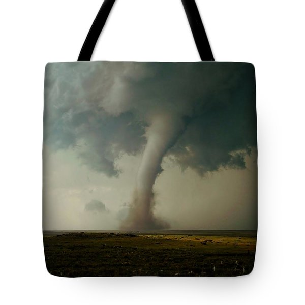 Tote Bag featuring the photograph Campo Tornado by Ed Sweeney