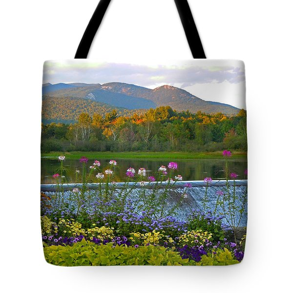 Campton Pond Campton New Hampshire Tote Bag by Nancy Griswold