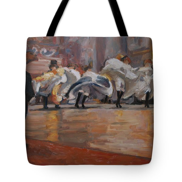 Can Can In The Moulin Rouge Paris Tote Bag