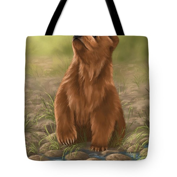 Tote Bag featuring the painting Can I Dive? by Veronica Minozzi