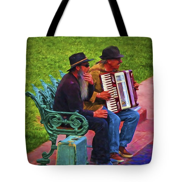Tote Bag featuring the photograph Can We Sing You A Song  ... by Chuck Caramella