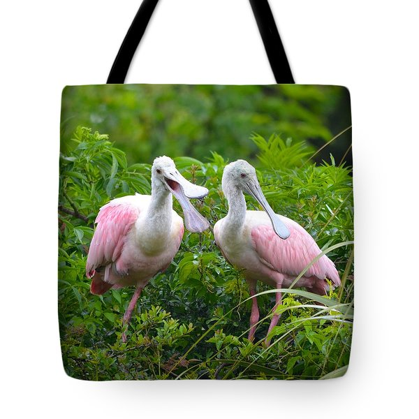 Can You Hear Me Now Tote Bag by Richard Bryce and Family