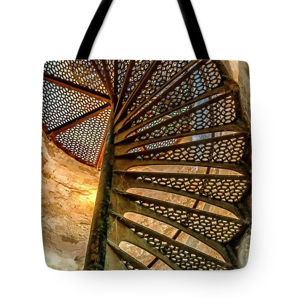 Cana Island Lighthouse Staircase Tote Bag