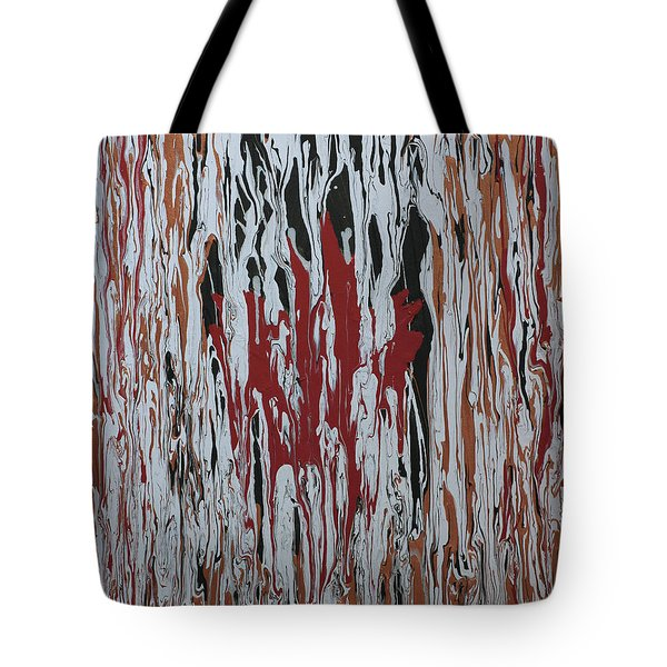 Tote Bag featuring the painting Canada Cries by Cathy Beharriell