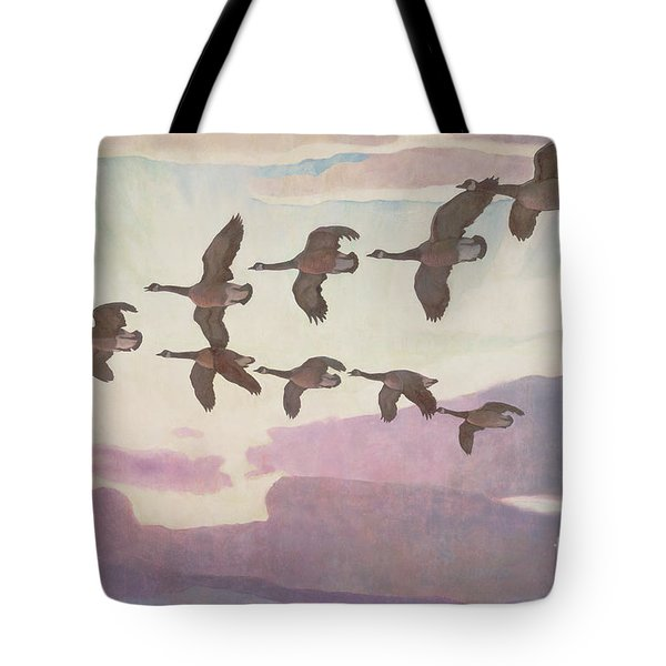Canada Geese In Spring Tote Bag