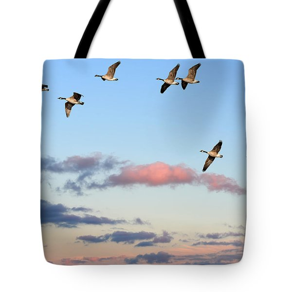 Canada Geese Migration Tote Bag