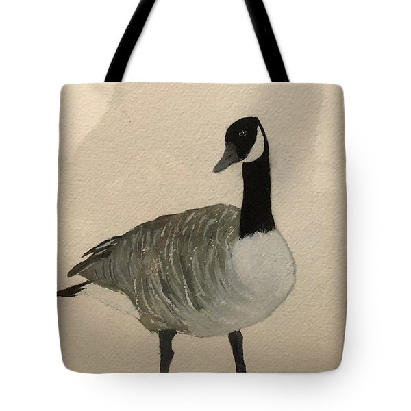 Tote Bag featuring the painting Canada Goose by Donald Paczynski