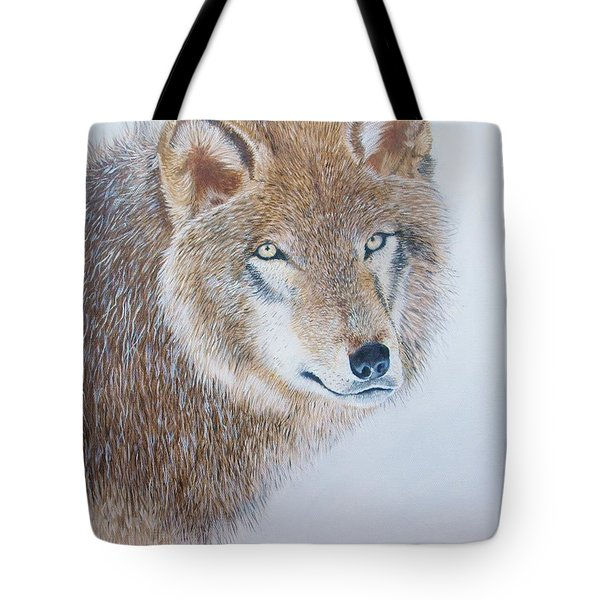 Canada Grey Wolf. Tote Bag by Jean Yves Crispo